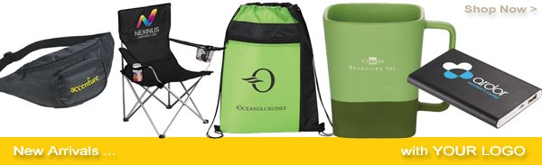 new arrivals, get, promotional products