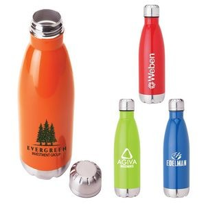 Solana 17 oz. 304 Stainless Steel Vacuum Bottle with Copper Lining