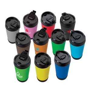 Perka Hibiscus IV 17 oz. Insulated Spill-Proof Mug
