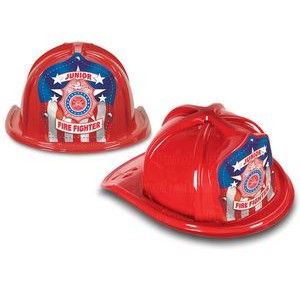 Red Plastic Jr Firefighter Hats (CLOSE OUT)