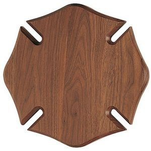 "Walnut Maltese Cross Plaque (14""x14"")"