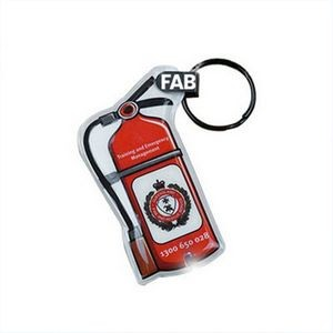 LED Fire Extinguisher Keychain