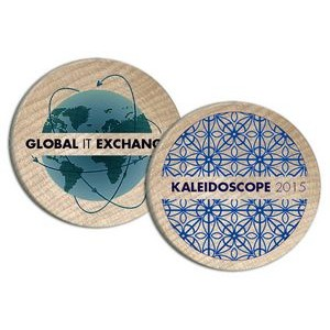 Full Color Wood Coin Printed 2-Sides