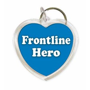 """Blue Hearts for Heroes"", Frontline Hero Acrylic Key Tag, (Made in the U.S.A.)"