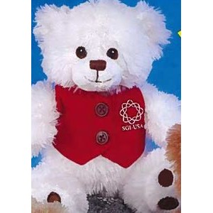 "7"" ""Patches"" Paw Bear™ Stuffed White Bear"