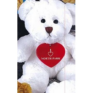 "8"" Jamie Bear™ Stuffed White Bear"