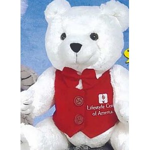 "10"" ""Good-Buy"" Bears™ Stuffed White Bear"