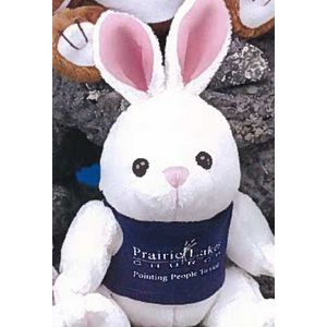 "6"" ""GB"" Brites™ Plush Beanies™ Stuffed White Bunny"