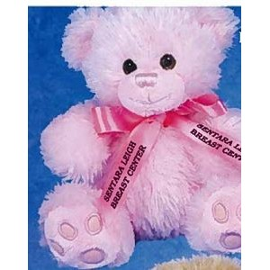 "7"" ""Patches"" Paw Bear™ Stuffed Pink Bear"