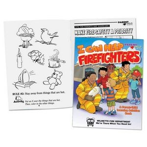 I Can Help Firefighters Parent-Child Learning Activities Book - Personalization Available