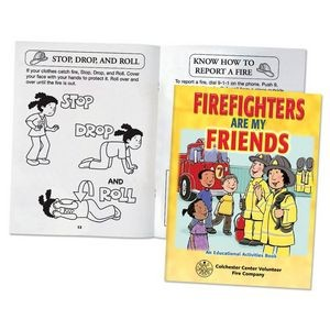 Firefighters Are My Friends Educational Activities Book - Personalization Available