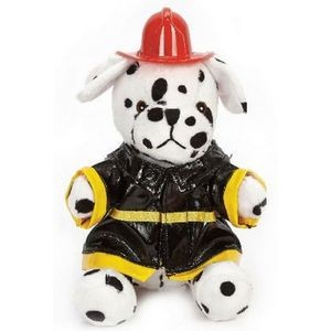 "8"" Dalmation Super Soft Fireman Stuffed Animal"