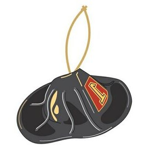 Fireman Hat Promotional Ornament w/ Black Back