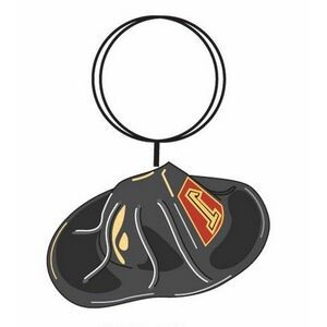 "Fireman Hat Executive Key Chain w/ Mirrored Back (4"")"