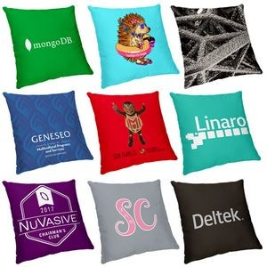 "12"" x 12"" Sublimated Polyester Small Throw Pillow"
